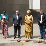 Marguerite Barankitse at the Genocide Memorial