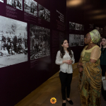 Marguerite Barankitse in the Armenian Genocide Museum-Institute
