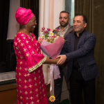 Marguerite Barankitse is welcomed to Goris