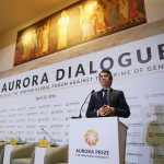 Ed Williams moderating the Aurora Dialogues
