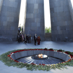 Guests Enter the Genocide Memorial Complex