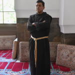 Father Tomas Gonzales Castillo visits the Blue Mosque