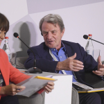 Bernard Kouchner talks to Jane Corbin at the Aurora Dialogues