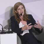 Ambassador Samantha Power delivers keynote at the Aurora Dialogues