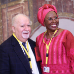 Aurora Prize Selection Committee Member and 100 LIVES Co-Founder Vartan Gregorian and Aurora Prize F
