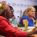 Aurora Prize Finalist Marguerite Barankitse sits on panel moderated by Amb. Nancy Soderberg
