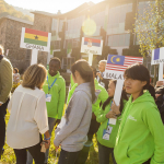 UWC Dilijan - Students and flags