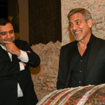 Aurora Prize Selection Committee Co-Chair George Clooney and 100 LIVES Co-Founder Ruben Vardanyan