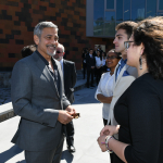 Selection Committee Co-Chair George Clooney at UWC Dilijan