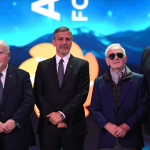 George Clooney, Vartan Gregorian and Charles Aznavour