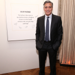 George Clooney and the pledge wall