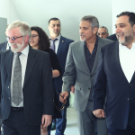 George Clooney and special guests visit UWC Dilijan