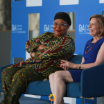 Leymah Gbowee and Alice Greenwald