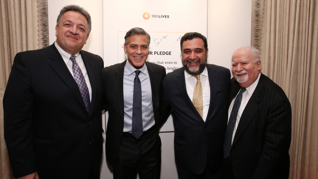 100 LIVES Co-Founders and Aurora Prize Selection Committee Co-Chair George Clooney