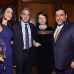 Ruben Vardanyan Veronika Zonabend, George Clooney and Amal Clooney at 100 LIVES launch in March 2015