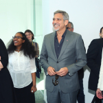 George Clooney with UWC Students